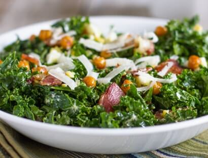 Bacon and Kale Caesar Salad Recipe