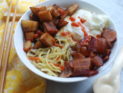 Bacon Egg Breakfast Ramen Recipe