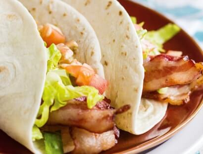 BLT Soft Tacos with Chipotle Ranch
