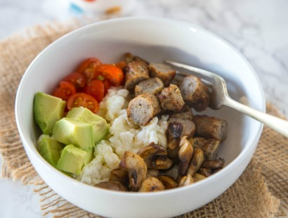 Chicken Sausage & Egg White Breakfast Bowl