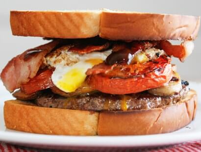 British Breakfast Bacon Burger