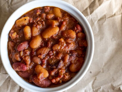 Buffalo Beans with Bacon