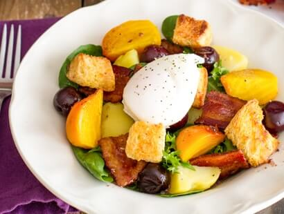 Cherry Hardwood Smoked Bacon Lyonnaise Salad Recipe