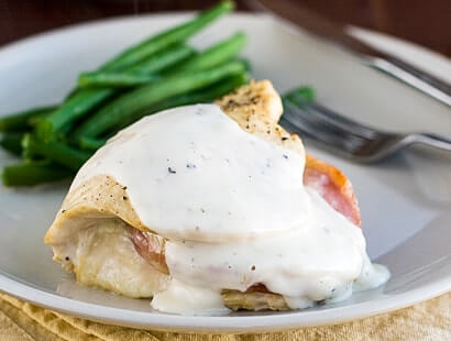 Chicken Breasts Stuffed with Ham Recipe