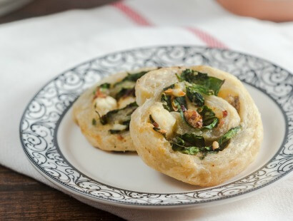 Savory Chicken Sausage and Spinach Danish