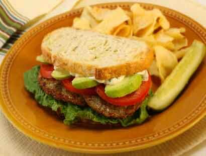 Chicken Sausage Avocado & Tomato Sammies recipe