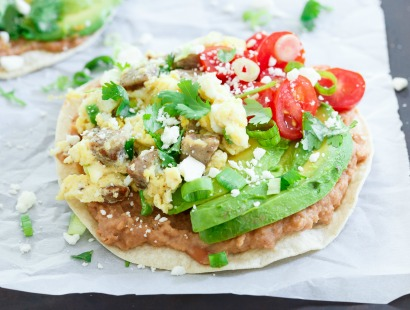 Chicken Sausage Breakfast Tostada