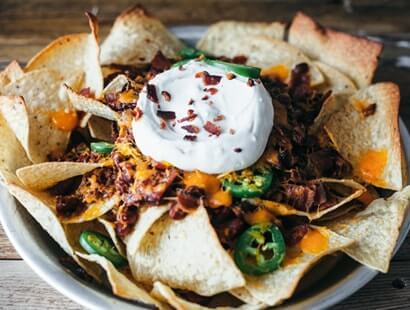 Chili Bacon Nachos
