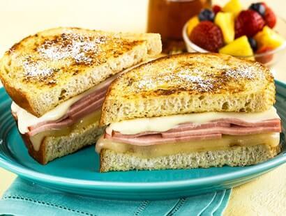Ham & Wisconsin Cheese Stuffed French Toast
