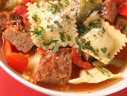 Italian Ravioli and Sausage Stew Recipe