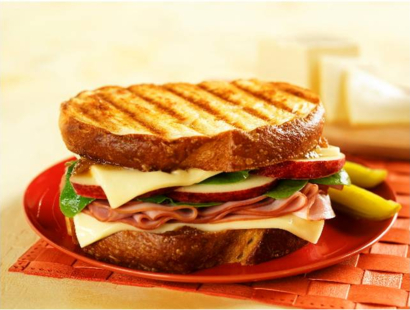 Apple, Mango, Ham & Cheese Sandwich