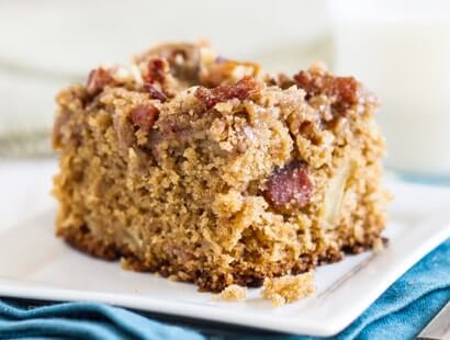 Maple Bacon Streusel Cake