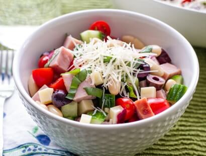 Mediterranean Ham and Cheese Salad Recipe