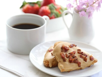 Peanut Butter & Bacon Scones