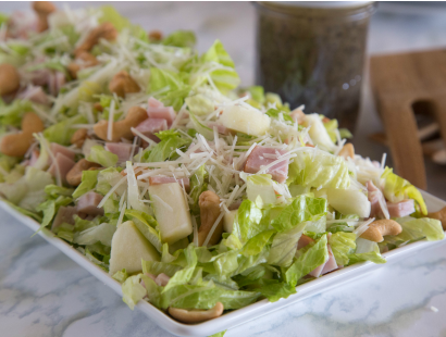 Pear, Cashew & Ham Salad with Poppy Seed Dressing