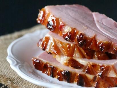 pineapple bourbon butter glazed ham Recipe