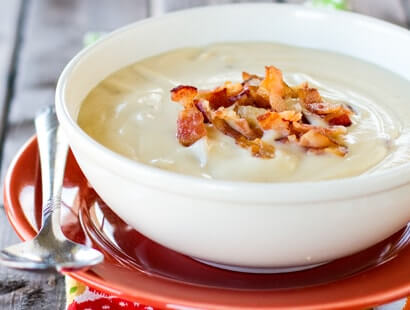 Roasted Cauliflower Soup with Bacon Recipe