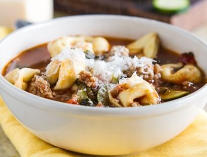 Sausage and Tortellini Soup Recipe