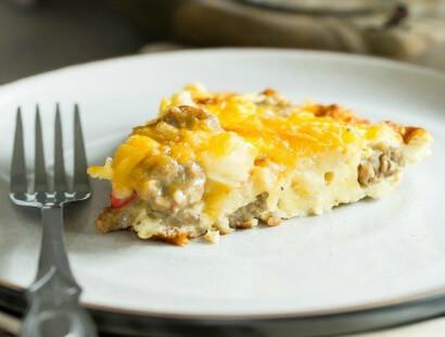 Sausage- Potato and Cheese Frittata Recipe