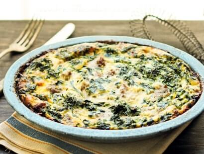 Sausage Spinach and Feta Frittata Recipe