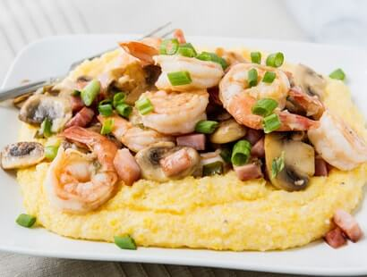 Shrimp & Grits with Hickory Smoked Ham