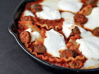 Skillet Sausage Lasagna Recipe