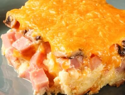 Smoked Ham & Cheese Brunch Casserole