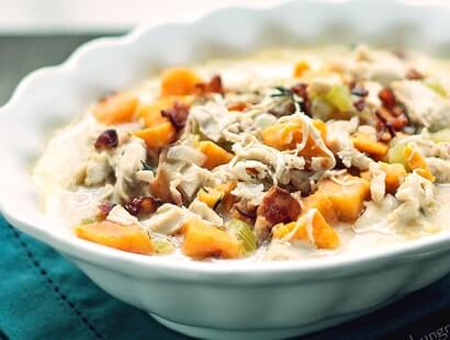 Smoky Bacon and Turkey Chowder Recipe