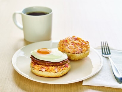 Southern-Style Breakfast Sandwiches with Pimento Cheese