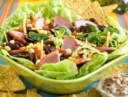 Southwestern Salad with Smoked Ham