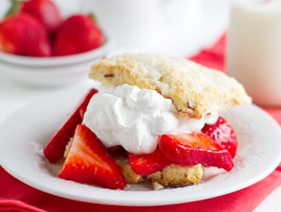 Strawberry Bacon Shortcakes