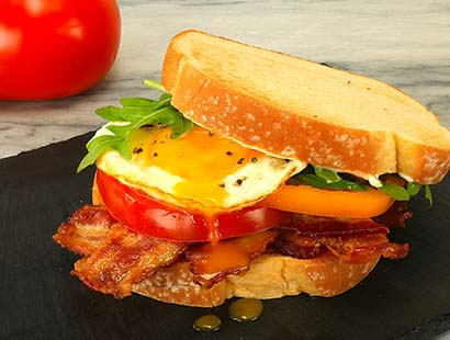 Fried Egg & Basil BLT