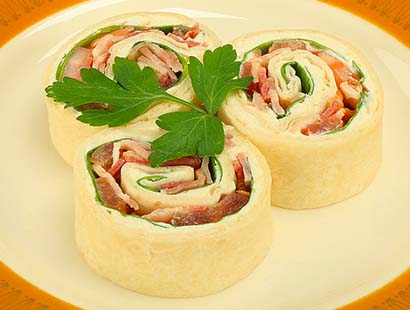 Horseradish & Bacon Tortilla Roll-Ups