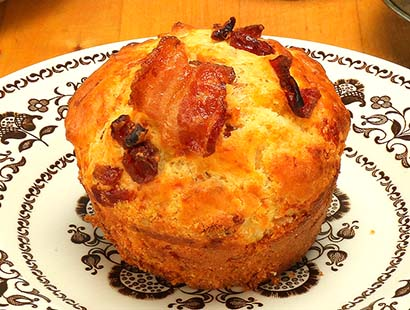 Savory Bacon & Cherry Muffins
