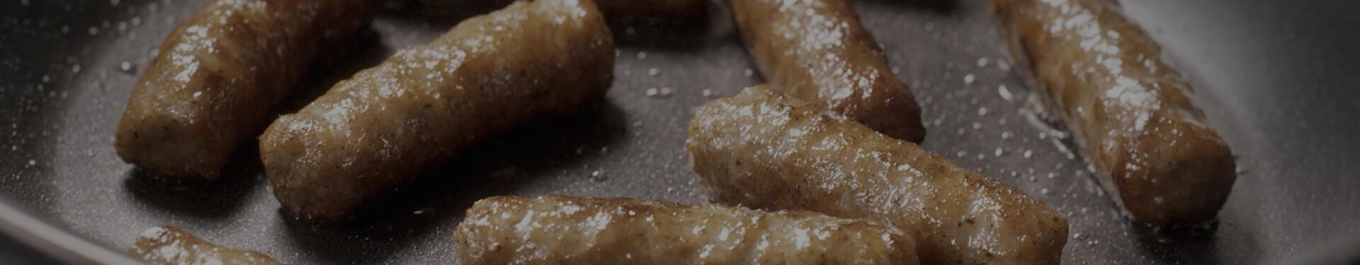 Jones Breakfast Sausage Links Cooking In a Skillet