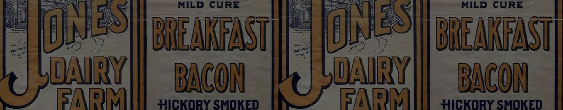 Jones Dairy Farm Historical Packaging