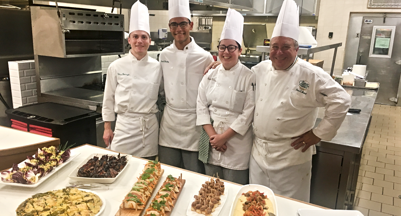 Chef Dean Bruce Mattel Cooking Lesson with CIA Scholarship Recipients